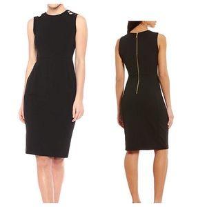 CALVIN KLEIN 🖤Sleeveless Sheath Midi Dress